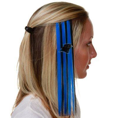 Sport blue and black next gameday with these colored extension hair clips.