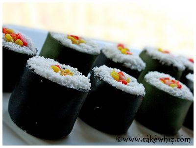Cake Whiz | Mini sushi cakes