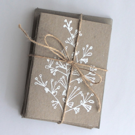 Hand Screen Printed Cards  mixed pack by tdesignstore on Etsy, $28.00