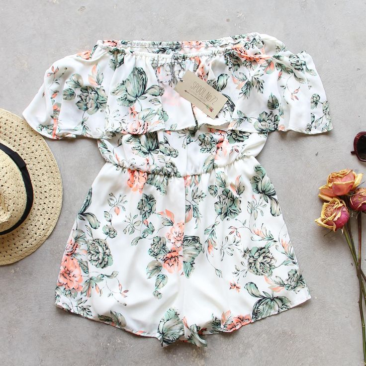 Faded Bloom Romper, Summer Rompers from Spool 72.   Spool No.72