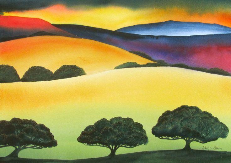 Landscape painting  by Raewyn Harris  www.raewynharris.nz