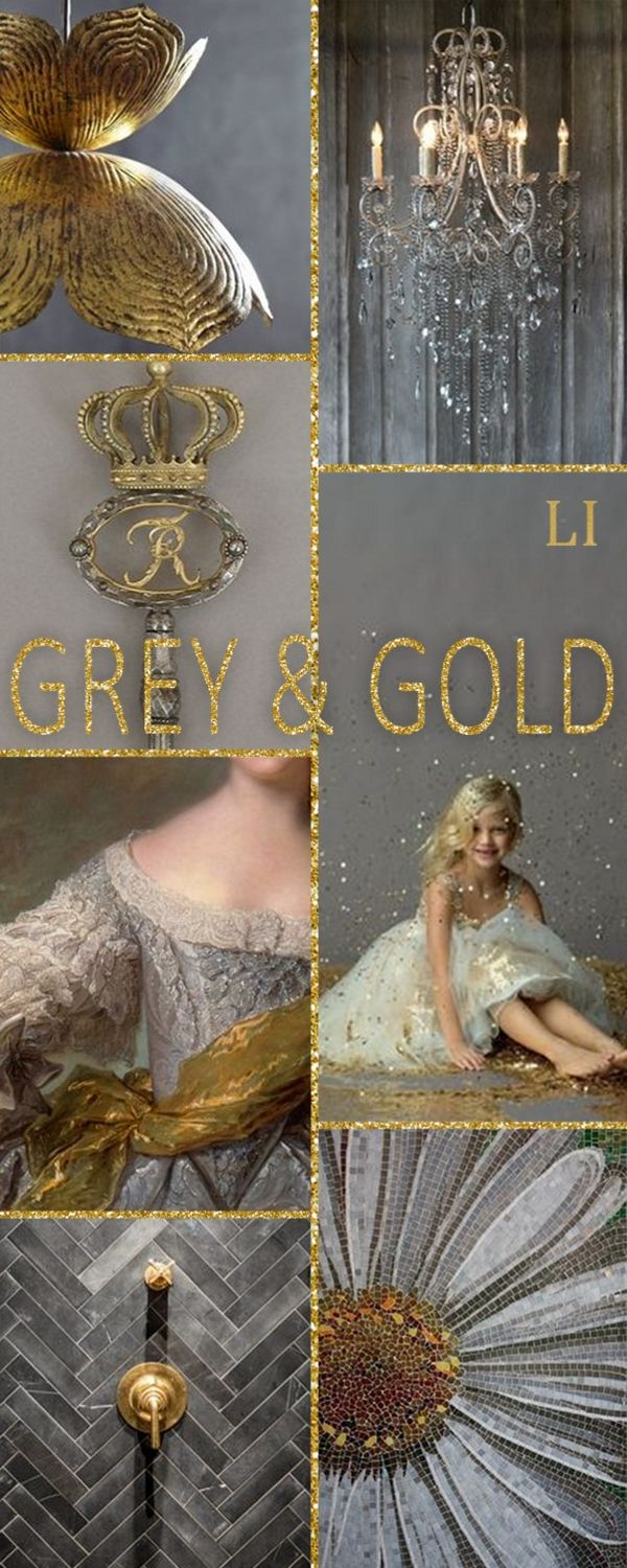 Lu's Inspiration ღ grey and gold