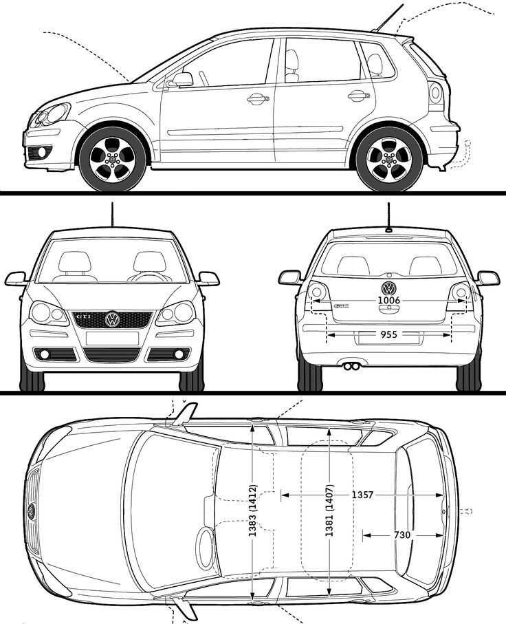 2008 Volkswagen Polo GTI 5-door Hatchback blueprint