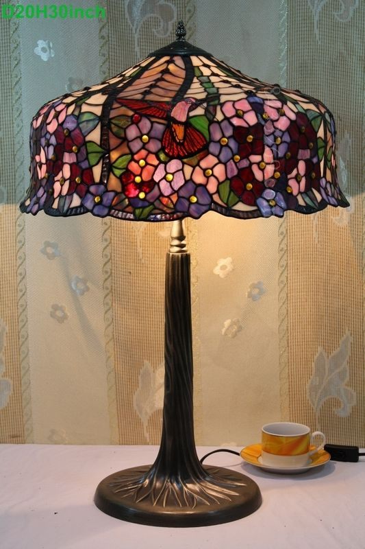 Humming bird tiffany lamp 20s10 43p11