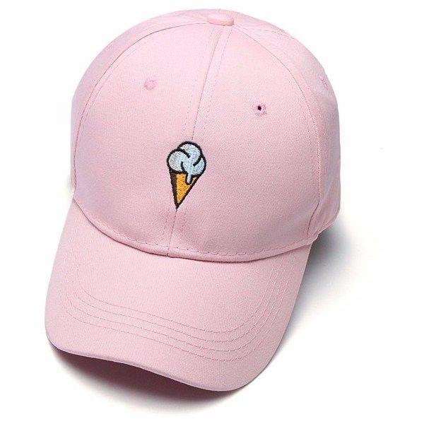 Unisex Ice cream Baseball Cap Adjustable Strapback Trucker Hats ($6.64) ❤ liked on Polyvore featuring accessories, hats, truck caps, ball cap hats, cream hat, adjustable ball caps and baseball hats