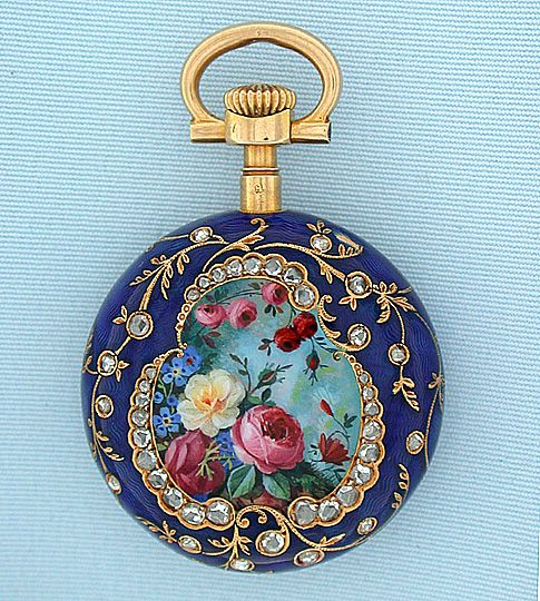 80 best ant vintage watches ladies images on pinterest antique fine rare and beautiful patek philippe gold diamond and enamel repousse pair case ladies antique pendant watch circa this watch is in the style of watches mozeypictures Images