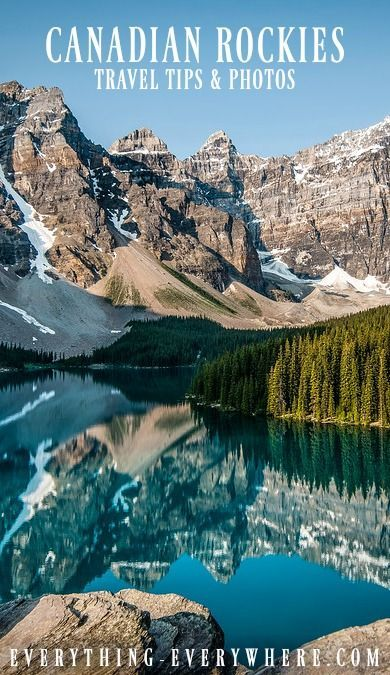 Moraine Lake, Canadian Rockies.  Check out more photos and get the best travel tips for your trip to this incredible region of Canada.