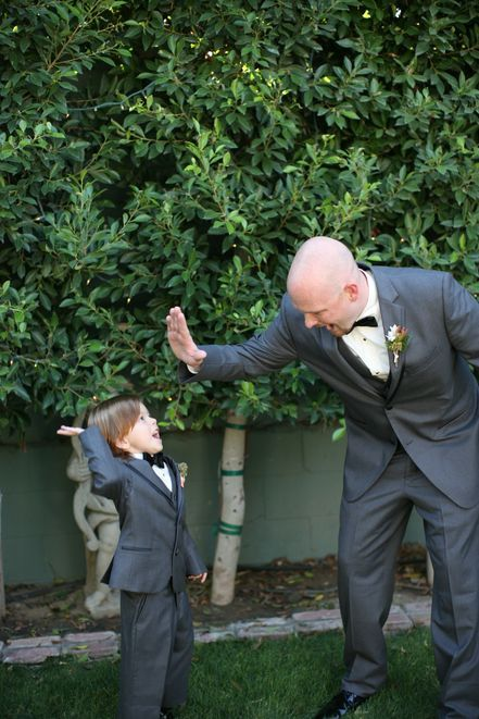 How adorable is this shot of the ring bearer and groomsman? From Kimberly Loya Photography @Kimberly Peterson Loya