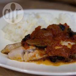 Filé de peixe ao estilo mediterrâneo @ allrecipes.com.br