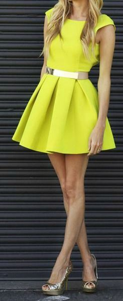 Lovely Yellow Dress