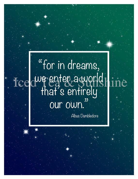 Inspirierende Harry Potter Zitat von Albus von IcedTeaAndSunshine