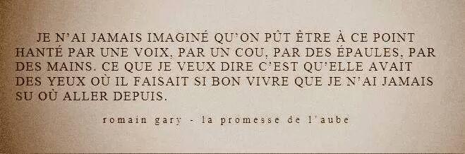 Romain Gary, La promesse de l'aube