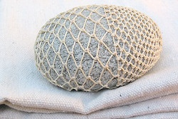 a woven stone I wish I had never given away…will make another someday.