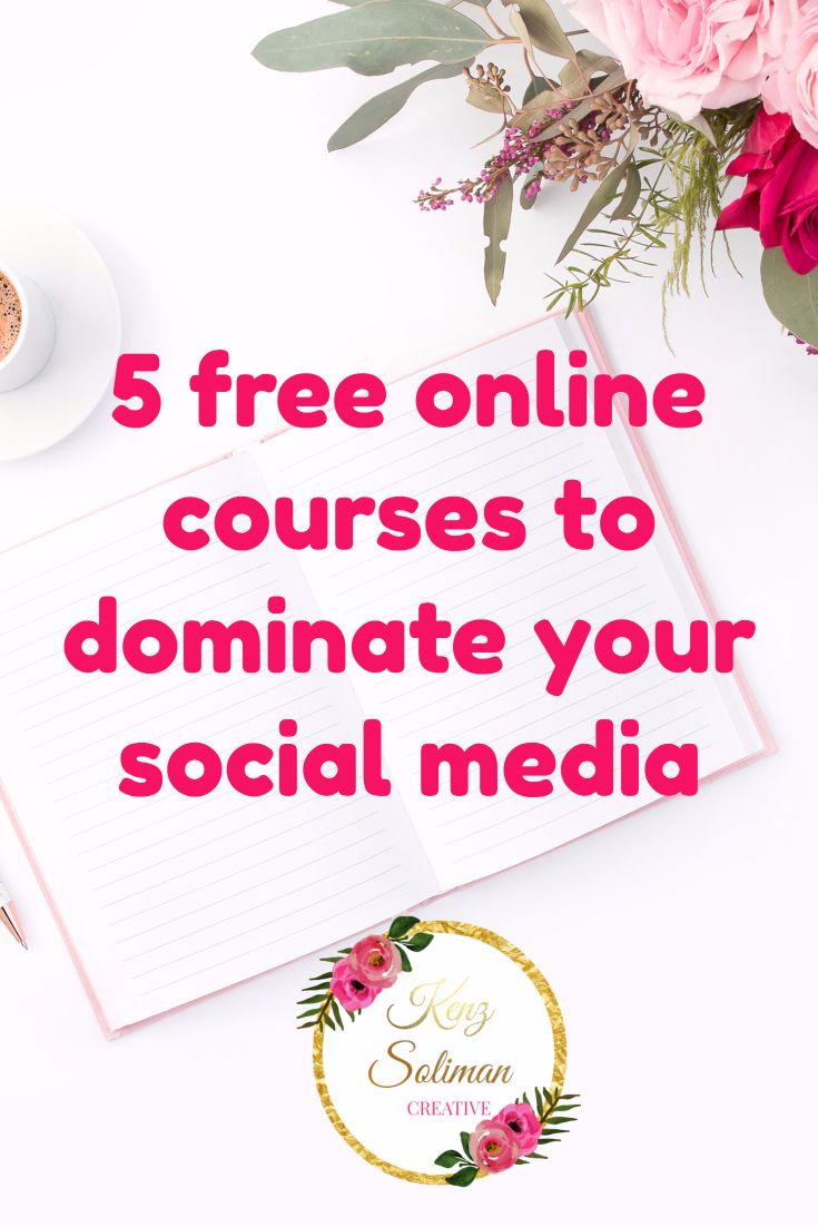 We all know how important social media is for any online business owner, blogger, coach, or entrepreneur  and today I gathered a collection of 5 powerful and FREE courses to help you dominate your social media!