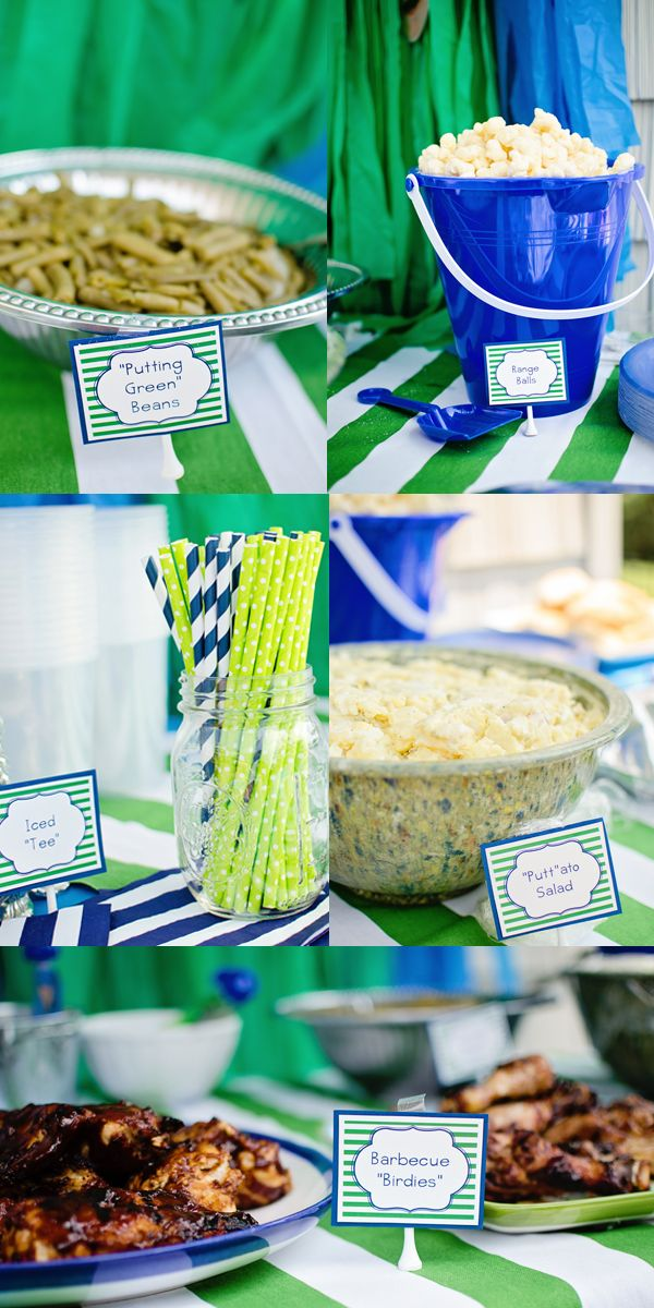 Golf Themed First Birthday Table Decor  www.styleyoursenses.com