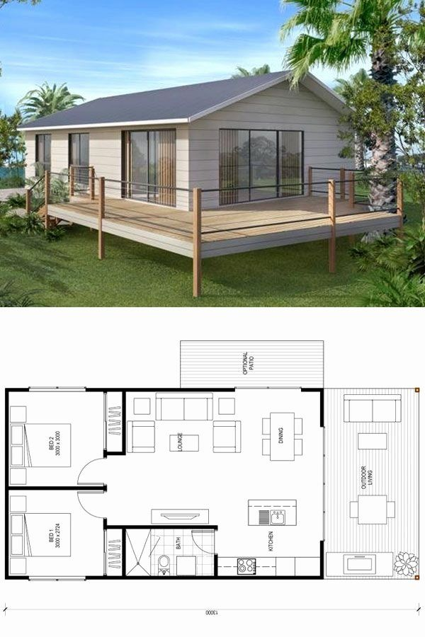 Two Bedroom Tiny House Plans Best Of Sydney 200 In 2020 My House Plans Beach House Plans Small House Plans
