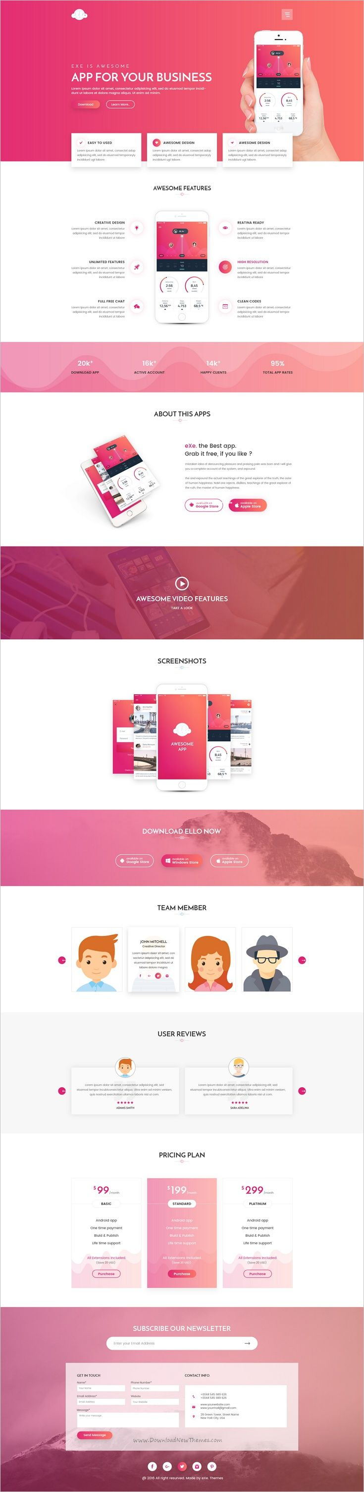 Ello is a wonderful multipurpose #Photoshop #template for #startups app landing page website download now➩ https://themeforest.net/item/ello-multipurpose-app-landing-psd-template/18601862?ref=Datasata