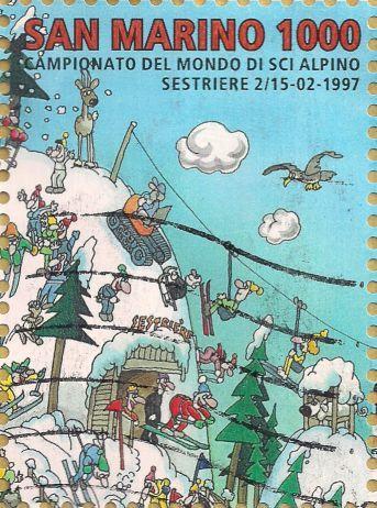 Briefmarke-Europa-Südeuropa-San Marino-1000-1997-1997-Campionato del Mondo di sci alpino-1701