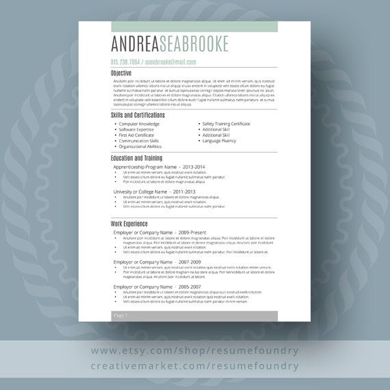 Student Resume Template / CV Template  Cover Letter for