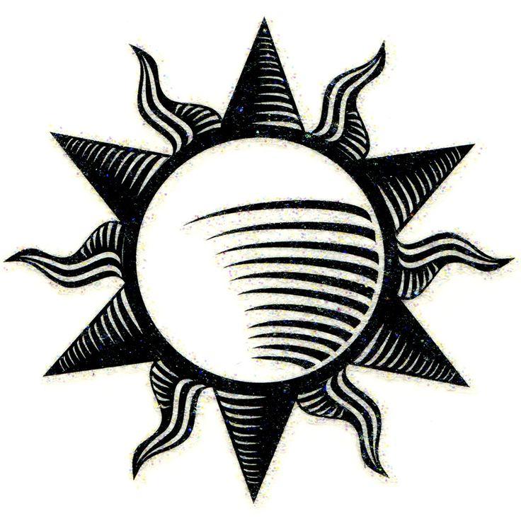 No. I Tribal Sun Glitter Temporary Tattoo 2x2