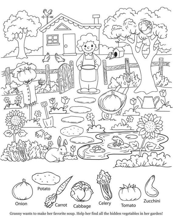 Items Similar To Kids Coloring Page Hidden Object Printable Instant Download Country Hidden Pictures Hidden Pictures Printables Hidden Picture Puzzles