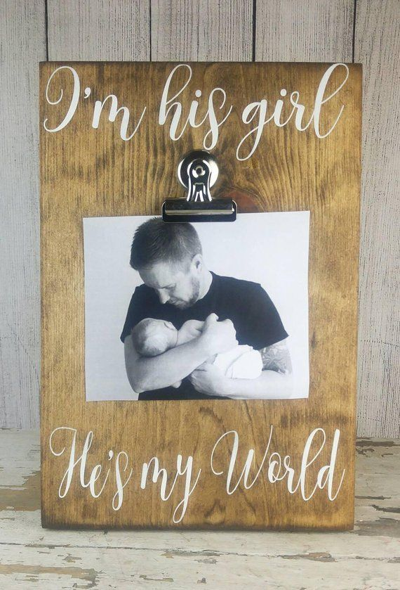 Fathers Day Gift from Daddy's Girl, Daddy Picture Frame, Fathers Day Photo Gift from Daughter, Dad D