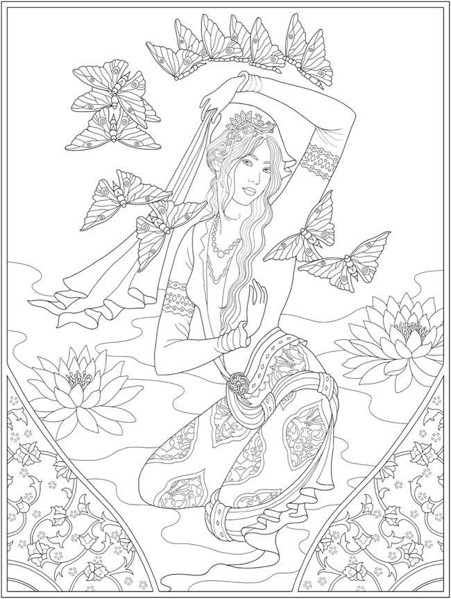 Creative Haven Wondrous Women Coloring Book Dover Publications