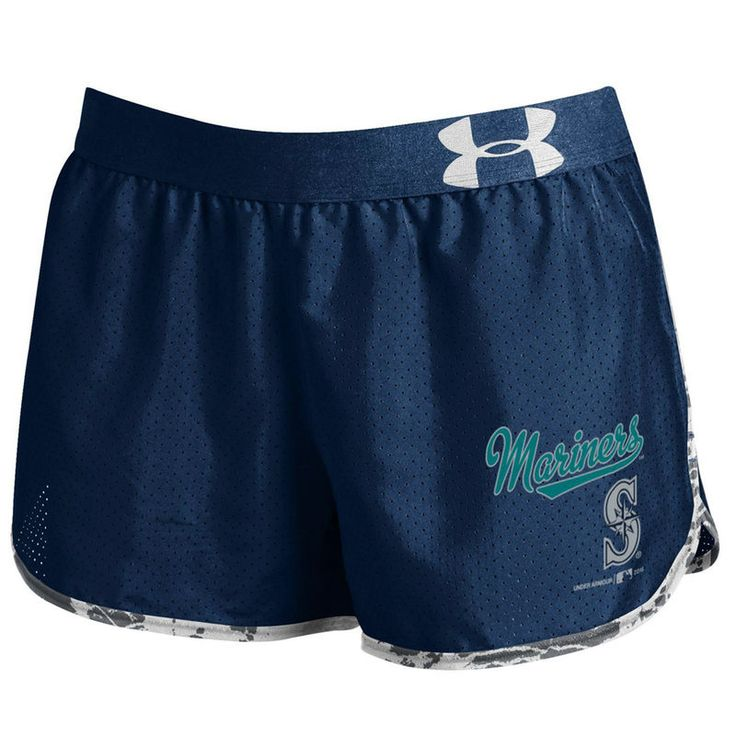 Seattle Mariners Under Armour Women's Tied Up Performance Running Shorts - Navy