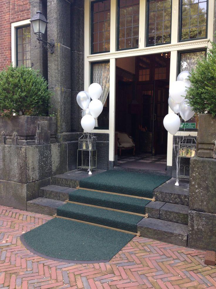 Helium ballonnen bruiloft locatie ballondecoraties for Tafeldecoratie bruiloft