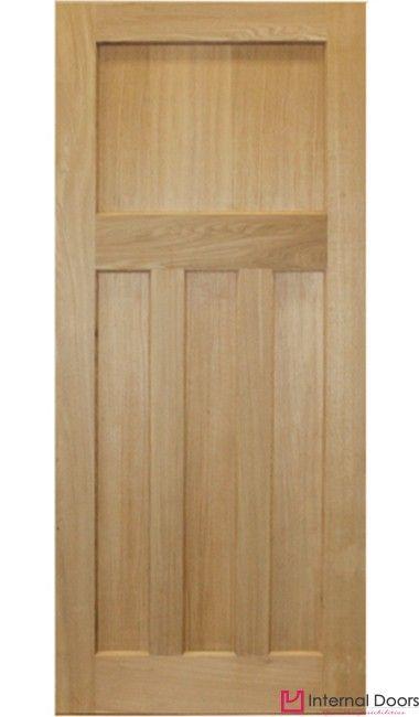 1930\'s Style Panelled Oak Door