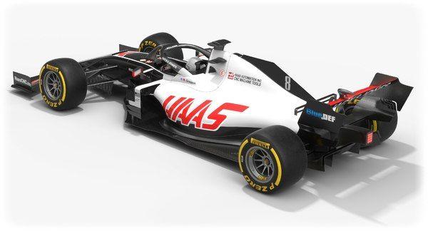 Haas f1 team formula 1 model - TurboSquid 1525381 | Haas f1 team ...