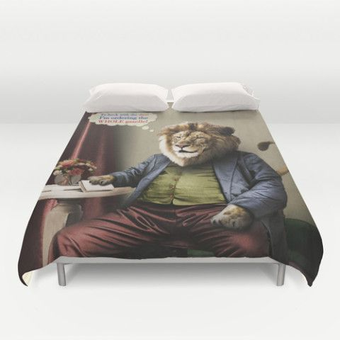 #society6 #duvetcover #bedding #home #decor #dorm #lion #diets #cats #animals #food #vintage #surreal #antique #gazelle #petergross