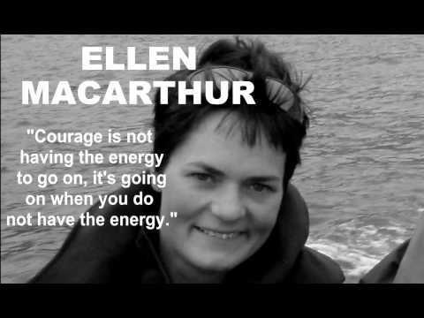 Ellen Macarthur ~ Multiple world record breaker for sailing solo around the…