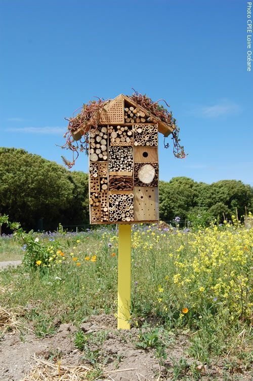 106 best images about insekthotel on pinterest gardens - Hotel a insectes ...