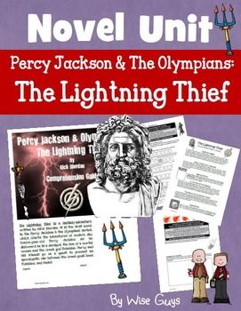 The Lightning Thief Novel Study UnitThis is a 29-page novel study unit and answer key for Percy Jackson and the Olympians: The Lightning Thief by Rick Riordan.Included in this zipped bundle is:-29-page comprehension guide with questions for each chapter with an emphasis on the the CCSS and other reading strategies such as visualizing, summarizing, predicting, connections, and more-A teacher answer key-A chapter by chapter vocabulary word study with an answer key -Extension project ideas and…