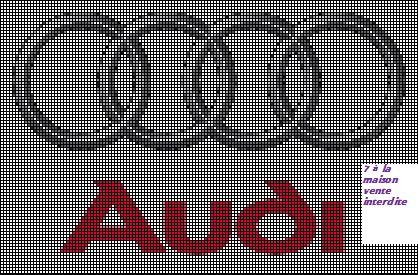 logo audi en grille gratuite cross stitch apraz desen cross stitch cross stitch patterns. Black Bedroom Furniture Sets. Home Design Ideas