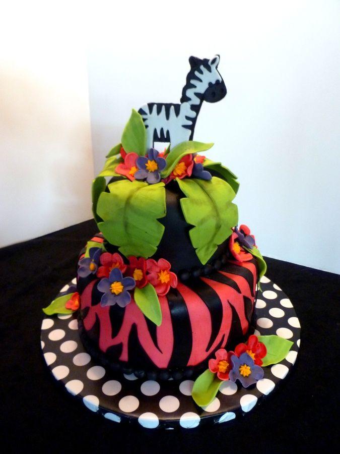 How to make a purple zebra cake