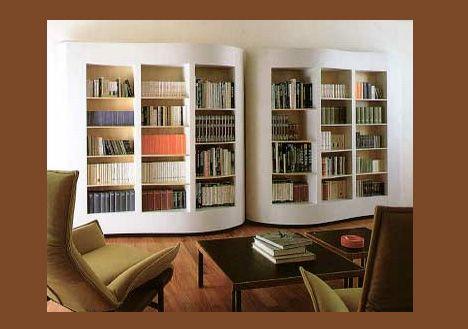 Fantastic bookshelf shaped like the pages of an open book.Bookshelves, Book Shape, Paginas Bookcases, Shape Bookcas, Book Shelves, Book Cases, Book Bookcas, Dreams Bookcas, Daily Bookcas