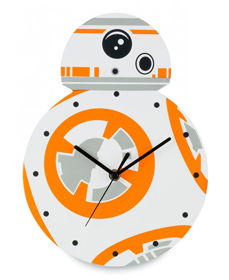Add the finishing touch to a Star Wars themed bedroom or man cave with this cool BB-8 Shaped Wall Clock. Matching bedding and bedroom accessories and free UK delivery available.
