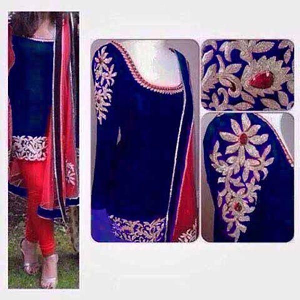 Punjabi Patiala Bollywood Designer Indian Embroidery SALWAR KAMEEZ latest suit #Handmade #SalwarKameez