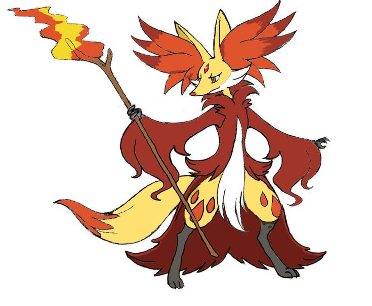 The Artwork And Design Was Created By I Just Colored It In Mega Delphox Designed