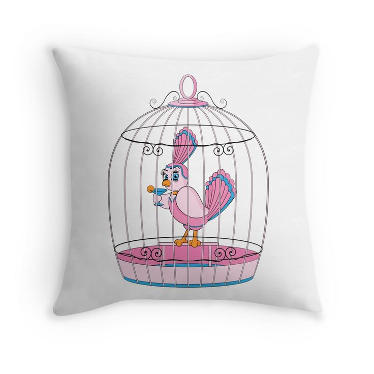 """The Birdcage"" Throw Pillows by Gay Essential"