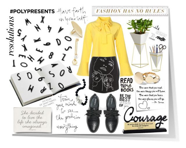 #PolyPresents: New Year's Resolutions by igiulia on Polyvore featuring STELLA McCARTNEY, Max&Co., David Yurman, Calder, Misis, Umbra, House of Hackney, Ben's Garden, WALL and Post-It