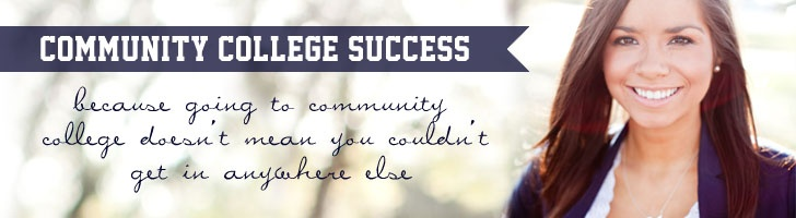 Love what this speaker/writer does for community college students in showing the way. Great slogan!