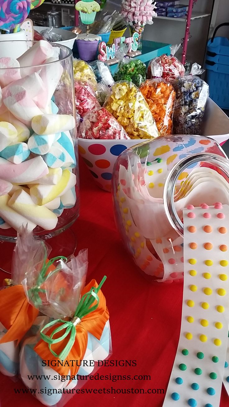 Circus Candy Buffet Design by Signature Designs. www.signaturedesignss.com