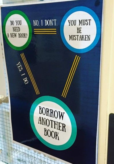 Info-graph funny book displays