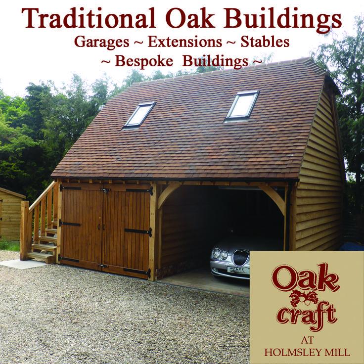 Traditional Oak Framed Garage with an upper floor #oakGarage #OakBarn