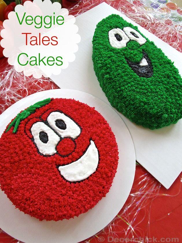 Veggie Tales Cakes | www.decorchick.com