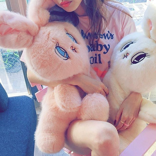 "Lovely review by @syrupcoatedheart on instagram Color:white.pink.purple. Size: Height:75cm/29.25"". Width:27cm/10.53"". Fabric material:plush. Tips: *Please double check above size and consider your mea"