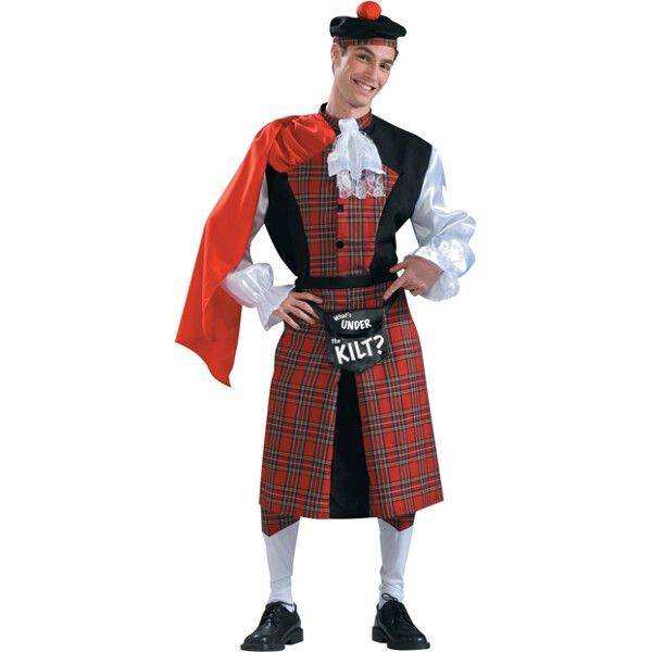 Adult Scottish Kilt Funny Men's Costume